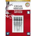 Иглы вышивальные ORGAN Anti-Glue 5/75