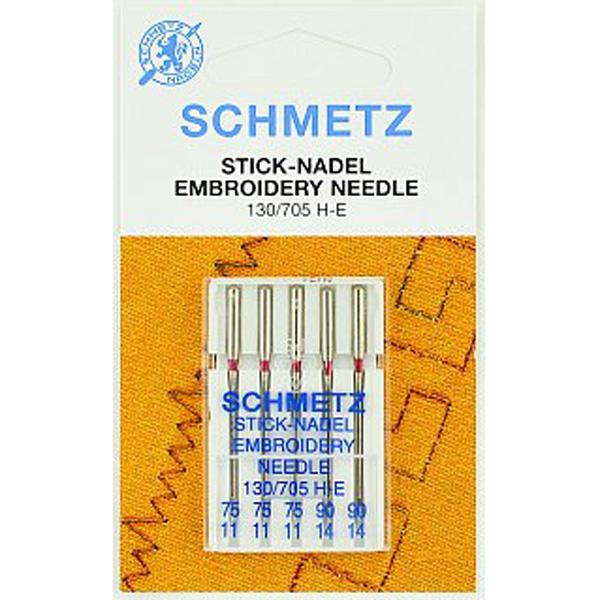 Иглы Schmetz вышивальные № 75(3), 90(2) 5 шт