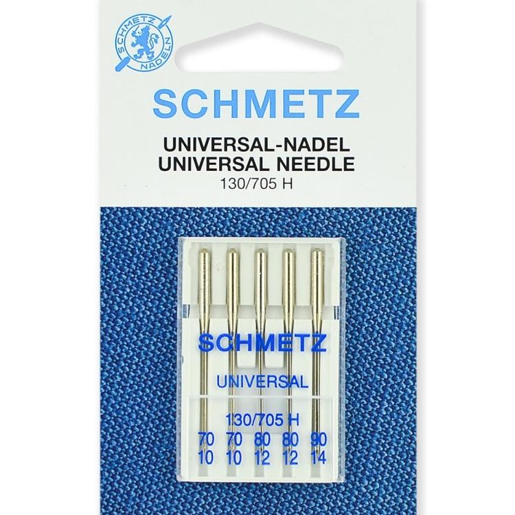 Иглы Schmetz стандартные 70(2), 80(2), 90, 5 шт