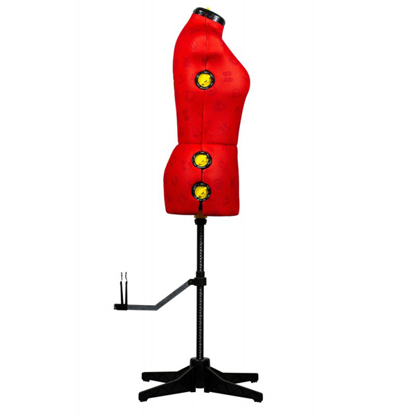 Манекен портновский раздвижной Effektiv TailorWoman S красный